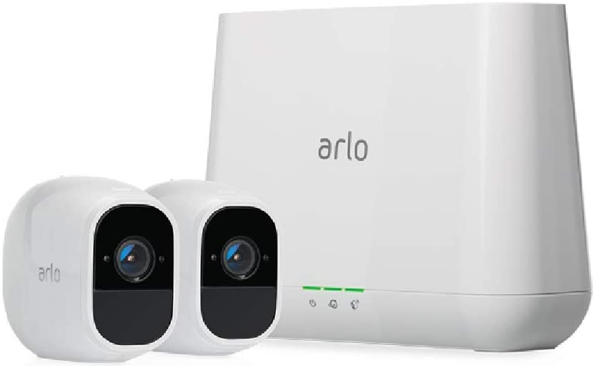 Arlo Pro 2 Wireless Home Security Camera System with Siren | Rechargeable, Night vision, Indoor/Outdoor, 1080p, 2-Way Audio, Wall Mount | Cloud Storage Included | 2 camera kit (VMS4230P)
