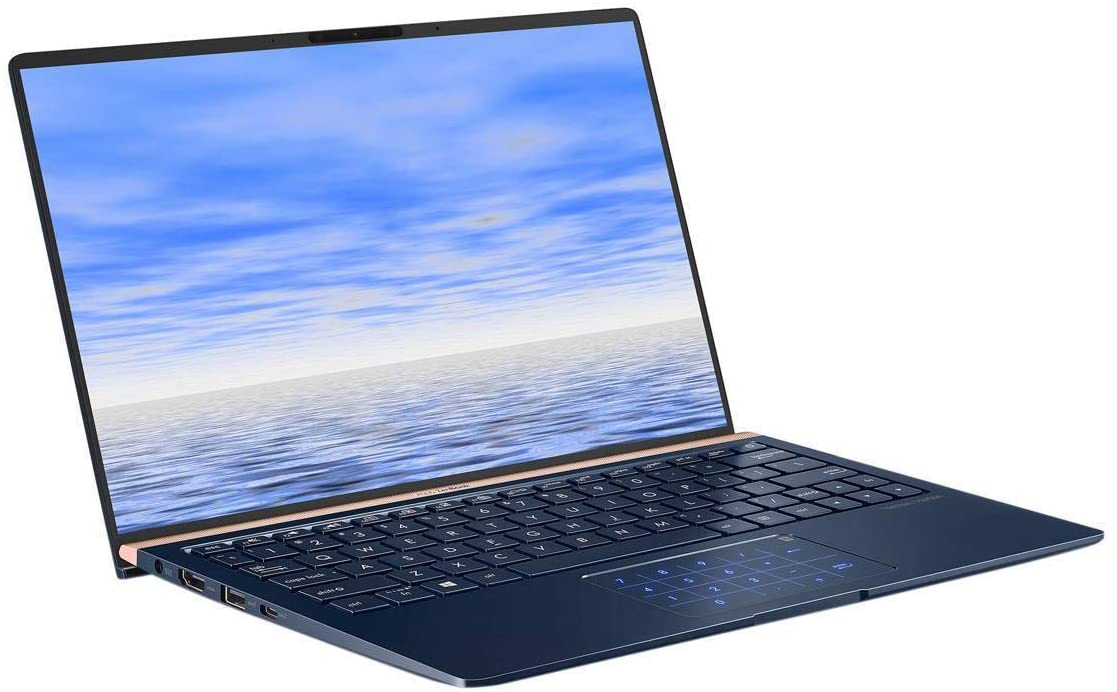 ASUS ZenBook 13 portátil delgado duradero 13.3 in FHD Wideview, Intel Core i7-8565U hasta 4.6GHz, 16GB RAM, 512GB PCIe SSD + TPM Security Chip, Numberpad, Windows 10 Pro, UX333FA-AB77, azul real (renovado)