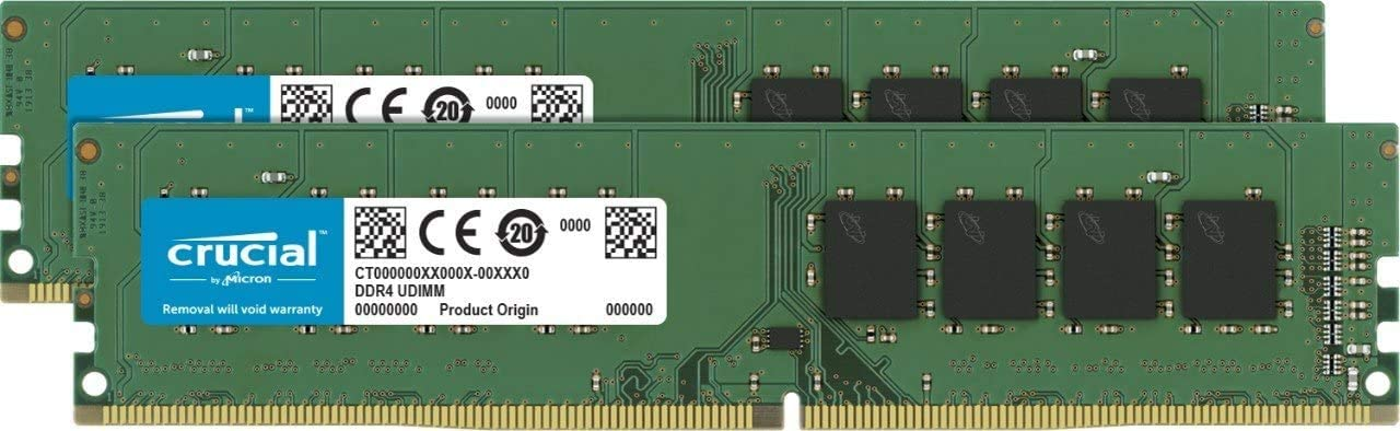 Crucial Memory Bundle with 16GB (2x8GB) DDR4 PC4-21300 2666 MT/s SR X8 DIMM 288-Pin Memory (CT2K8G4DFS8266) Compatible with OptiPlex SFF, Tower 3050, 3060, 3070, 5050, 5060, 5070, 7050, 7060, 7070