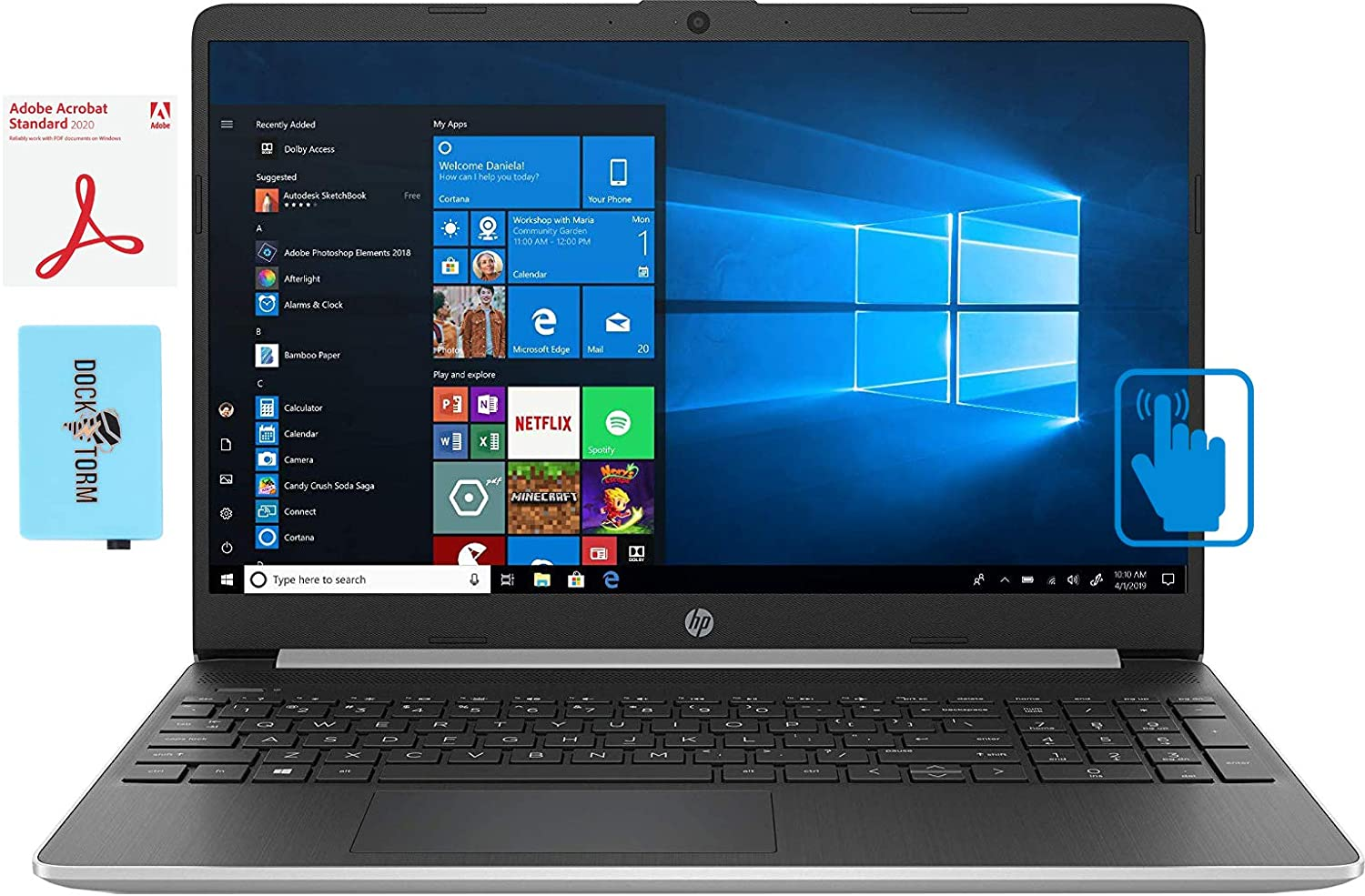 HP  Home and Business Laptop (Intel i5-1035G1 4-Core, 64GB RAM, 1TB PCIe SSD, Intel UHD Graphics, 15.6