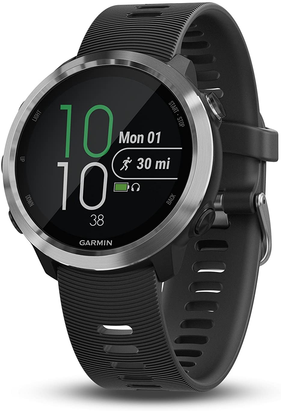 Garmin 010-01863-00 Forerunner 645, GPS Running Watch with Pay Contactless Payments and Wrist-Based Heart Rate, Black, 1.2