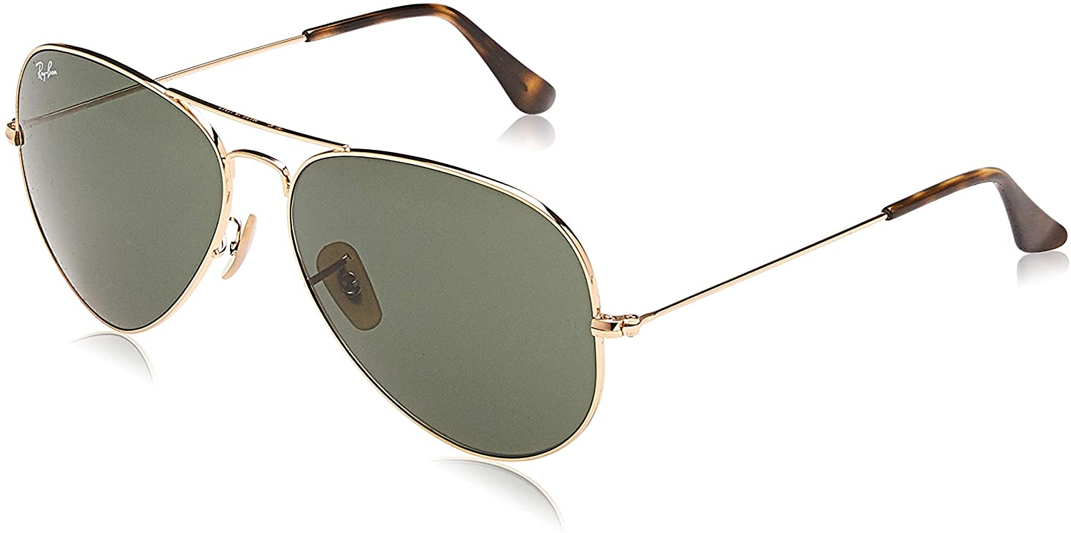Ray-Ban Rb3025 Aviator Classic Sunglasses - Antique Gold/Green