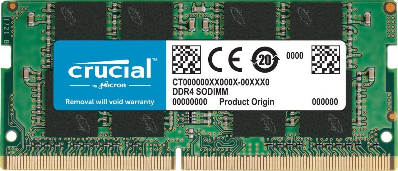 Crucial 16GB Single DDR4 2666 MT/s (PC4-21300) DR X8 SODIMM 260-Pin Memory - CT16G4SFD8266