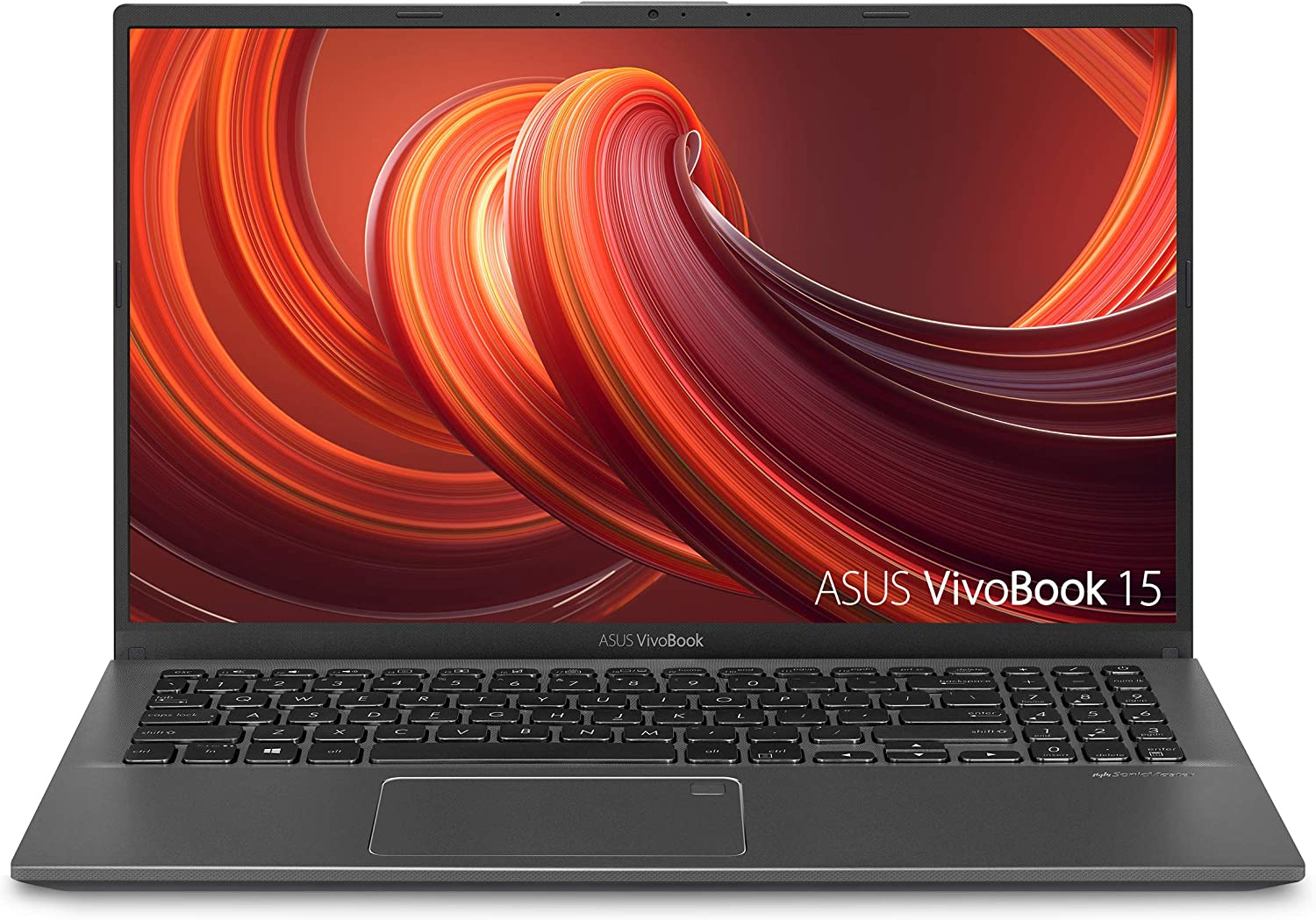 "ASUS VivoBook 15 Thin and Light Laptop, 15.6"" FHD Display, Intel i3-1005G1 CPU, 8GB RAM, 128GB SSD, Backlit Keyboard, Fingerprint, Windows 10 Home in S Mode, Slate Gray,"