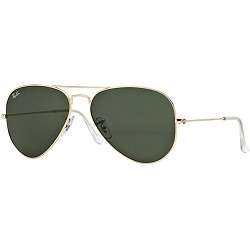 Ray-Ban Rb3025 Aviator Classic Sunglasses - Gold/Light Green