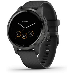 Garmin Vivoactive 4S, Smaller-Sized GPS Smartwatch, features Music, Body Energy Monitoring, Animated workouts, Pulse Ox Sensors and More, Black, 40mm