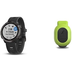 Garmin Forerunner 645 Music, GPS Running Watch with Contactless Payments, Wrist-Based Heart Rate and Music, Slate Bundle with Garmin 010-12520-00 Running Dynamics Pod