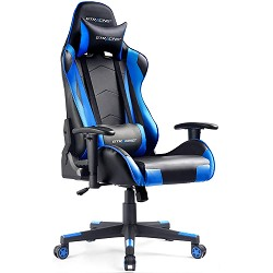 Gtracing Gaming Chair Racing Office Computer Ergonomic Video Game Chair Backrest and Seat Height Adjustable Swivel Recliner with Headrest and Lumbar Pillow Esports Chair (Blue)